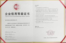 Certificate of enterprise credit grade